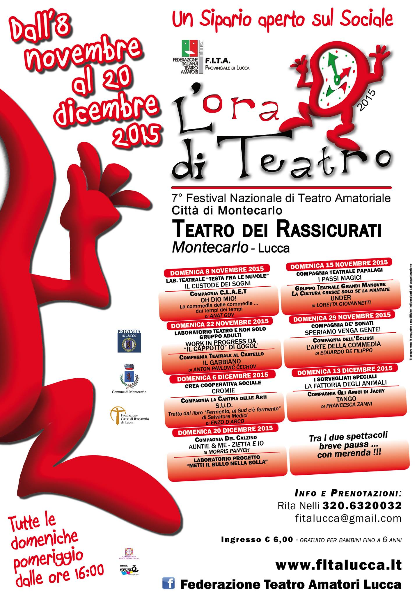 """VII Festival Nazionale """"L'Ora di Teatro - Un Sipario aperto sul Sociale"""""""