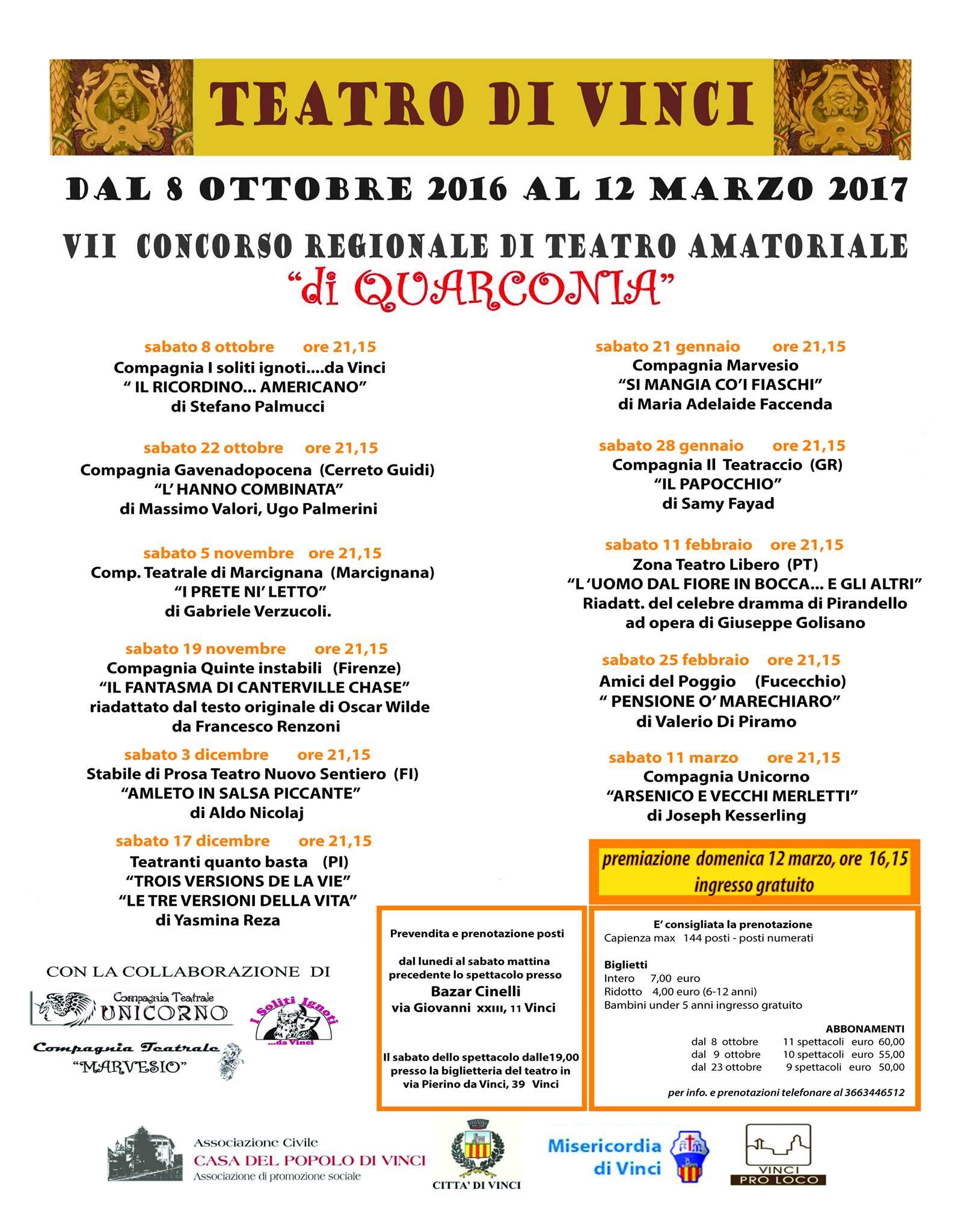 """VII Concorso Regionale """"di Quarconia"""""""